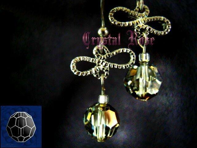 ※水晶玫瑰※ SWAROVSKI 8mm水晶珠 耳勾式針式耳環(DD351)~出清~三對免郵