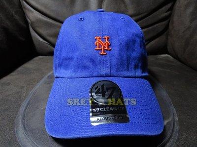 [SREY帽屋]預購*47 Brand CLEAN UP Base Runner 紐約大都會 小LOGO 棒球帽 老帽