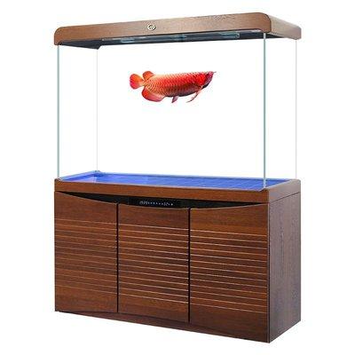 鱼缸閩江魚缸大型客廳落地免換水超白家用中型下過濾底濾龍魚缸水族箱