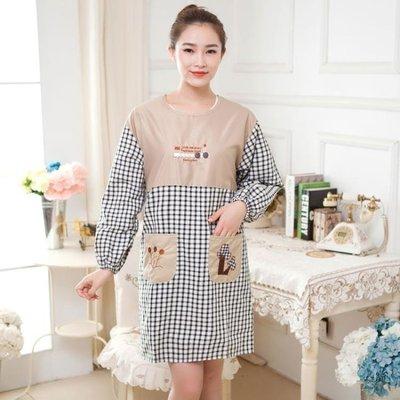 【蘑菇小隊】長袖圍裙廚房做飯圍腰日繫帶袖防油-MG6313