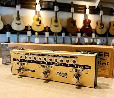 免運費 現貨供應 VALETON DAPPER ACOUSITC MINI 木吉他 貝斯 通用 綜合效果器 6IN1