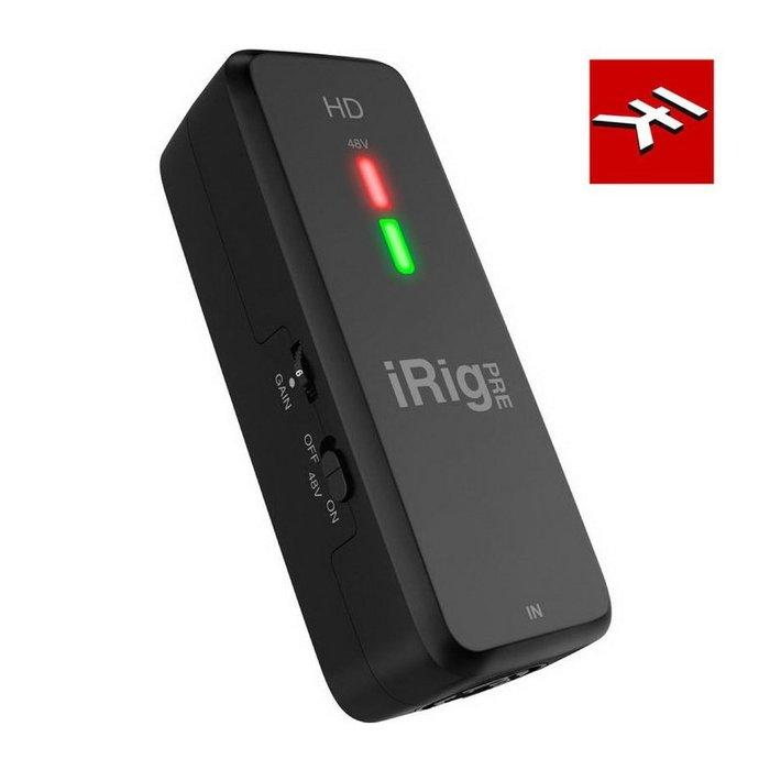 ☆唐尼樂器︵☆免運公司貨 IK Multimedia iRig Pre HD iOS 安卓 手機電容式麥克風轉接介面