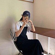 ✿Lu girl 自制甜美日系背帶連身裙工裝風復古少女學生可愛風溫柔風JK吊帶長裙JU19