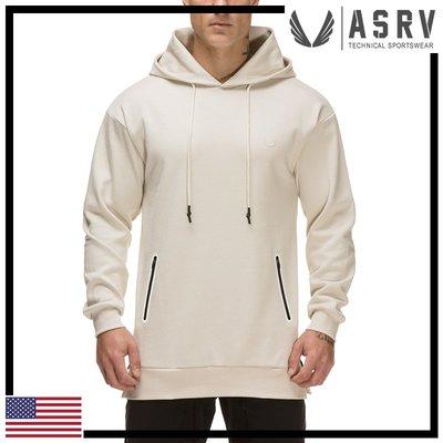 瘋狂金剛▸ 白 ASRV Side-Zip Tech Hoodie 熱封拉鍊口袋連帽衫 運動 健身
