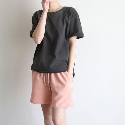 girlmonster 正韓 色彩短袖上衣 ( 薄荷/深綠/綠/粉紅/米/紫色/黃/藍/深灰) 【A0718】