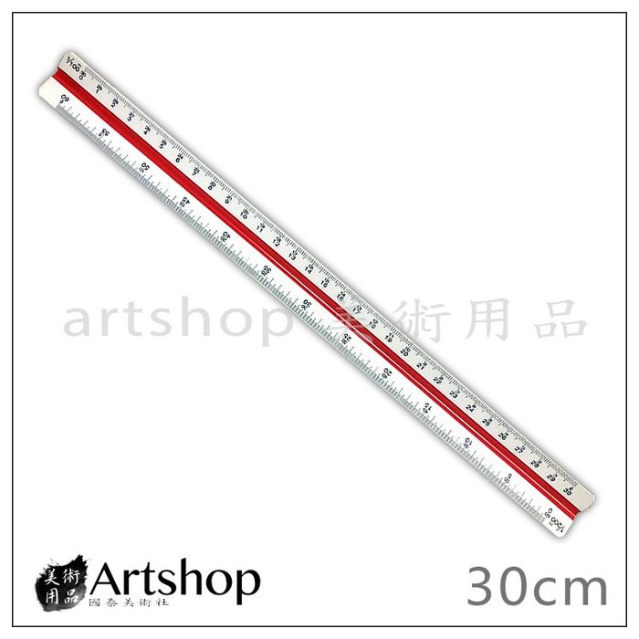 【Artshop美術用品】YCHIAN YUH 塑膠製 比例尺 塑膠比例尺 30cm 含保護殼