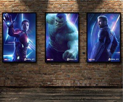 美漫裝飾畫復仇者聯盟無限戰爭海報鋼鐵俠奇異博士帶框