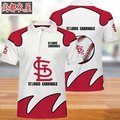 【尚都衣屋】 MLB圣路易斯紅雀隊男女polo衫t恤夏季 philadephia