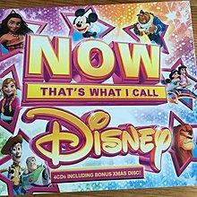 正版全新4CD~迪士尼精選97首Now thats what I call Disney 小美人魚/風中奇緣/阿拉丁