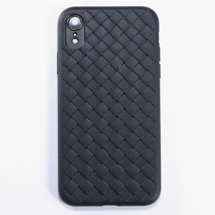 999iPhone XR手機殼蘋果XR新款編織保護套輕薄硅膠軟外殼iPhonexr全包防摔簡約情侶男女潮