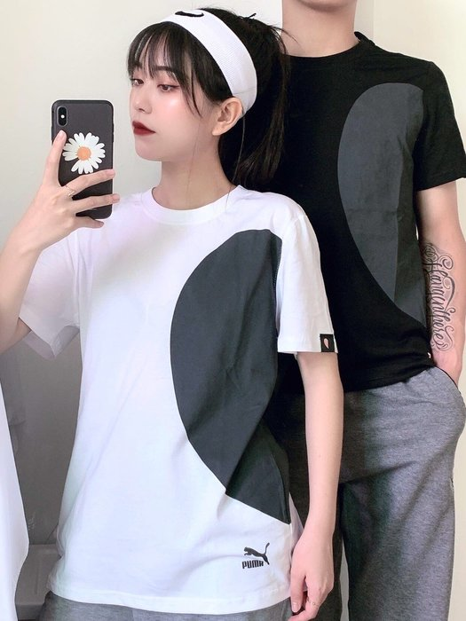 Chris精品代購 美國 Outlet PUMA 春夏新款 短袖 T恤 情侶款 純棉吸汗透氣 簡約運動風格 兩色任選