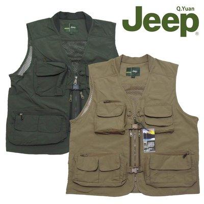 Jeep背心 釣魚背心 攝影背心 加大尺碼背心 防潑水 網眼布 多口袋(321-A991)(321-A992)sun-e