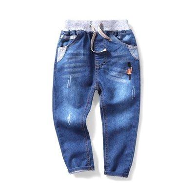 售完即止-夏小童寶寶男1一13歲薄款夏新款正韓男童牛仔褲9-14(庫存清出S)
