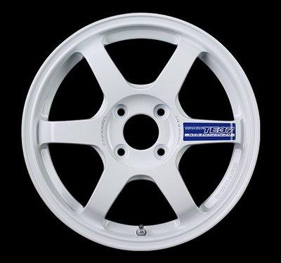 日本 Volk Racing Rays 鍛造 鋁圈 TE37 GRAVEL II 純白 15吋 100 四孔 4/100