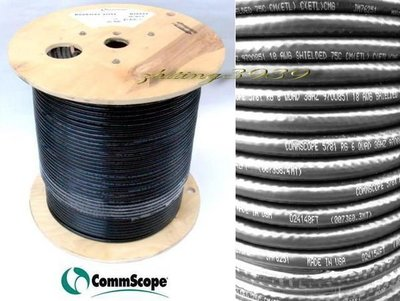 正品CommScope 5781 低損耗3000mhz頂級之選 Satellite純銅心同軸電纜RG6/U QUAD衛星.有線電視BS/CS