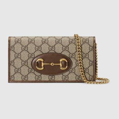 【代購】限時特惠 新品 Gucci logo 馬銜扣 皮夾 WOC