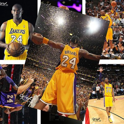 科比海報NBA球星高清同款明信片寫真學生宿舍墻紙墻貼禮物紀念品