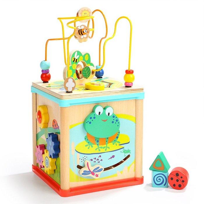 YM#爆款#特寶兒青蛙五合一多功能四面體百寶箱兒童玩具1-2歲 寶寶益智禮物