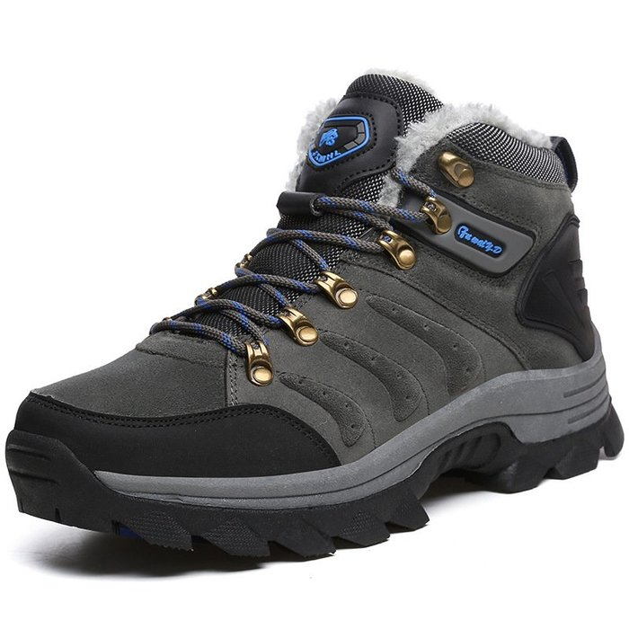 加絨登山鞋男鞋戶外歐美防水牛反絨運動鞋女防滑徒步靴