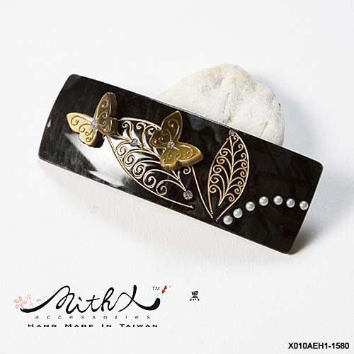 【MITHX】三色,飛舞,圓珠雕花,手工,自動夾,平夾,髮夾,台灣設計精品