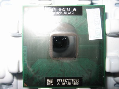正式版Intel T8300 SLAYQ SLAPA 2.4G/3m 筆電965 GL40用 T9500 T9300參考