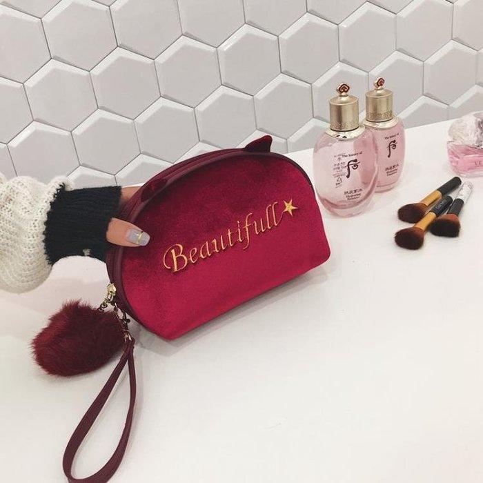 韓國化妝包網紅同款小號多功能大容量隨身手拿旅行便攜簡約收納袋