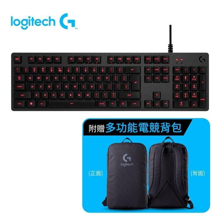 【鳥鵬電腦】Logitech 羅技 G413 CARBON 機械式遊戲鍵盤 黑 紅光 中文 Romer-G軸 巨集