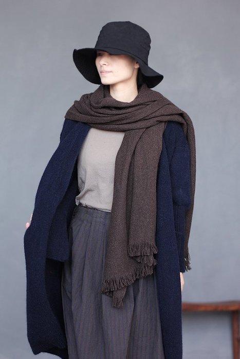 【子芸芳】原著冬款厚實長方形純犛牛絨下擺流蘇保暖圍巾披肩 多色