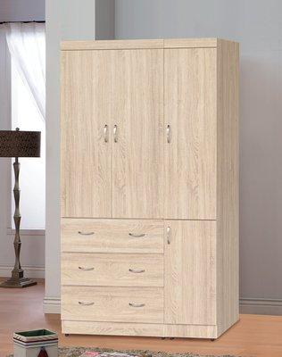 【南洋風休閒傢俱】精選時尚衣櫥 衣櫃 置物櫃 拉門櫃 造型櫃設計櫃- 無敵梧桐木4*7尺衣櫥 CY184-47