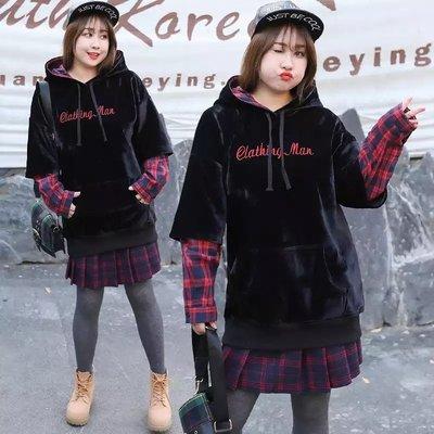 ✿plump girl 甜美✿中大尺碼女裝孕婦裝休閒加絨保暖衛衣1547