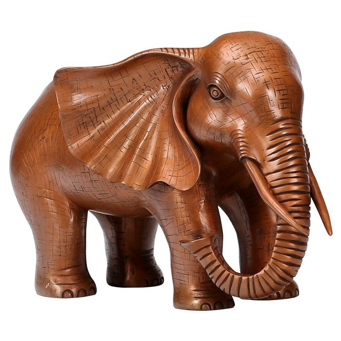 純銅大象擺件客廳家居裝飾風水擺設紫銅工藝品辦公室擺件
