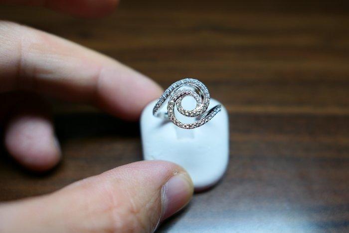 [吉宏精品交流中心]60P 天然鑽石 白K金 造型 戒指