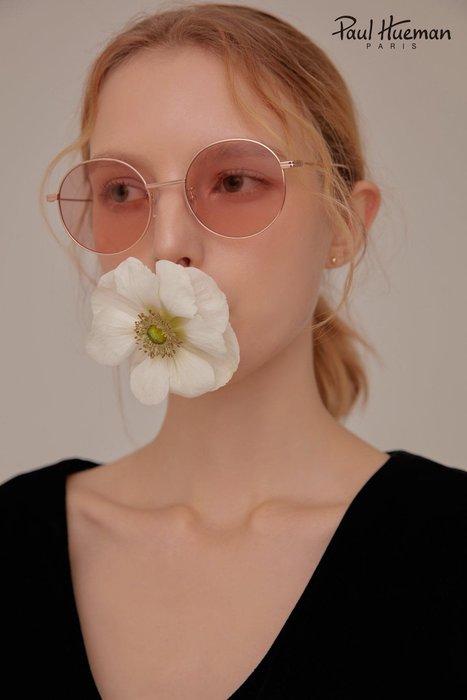 Paul Hueman 韓國熱銷品牌 玫瑰金金屬太陽眼鏡 浪漫粉色鏡片 復古風兼具創新的質感設計 PHS915A C11 915