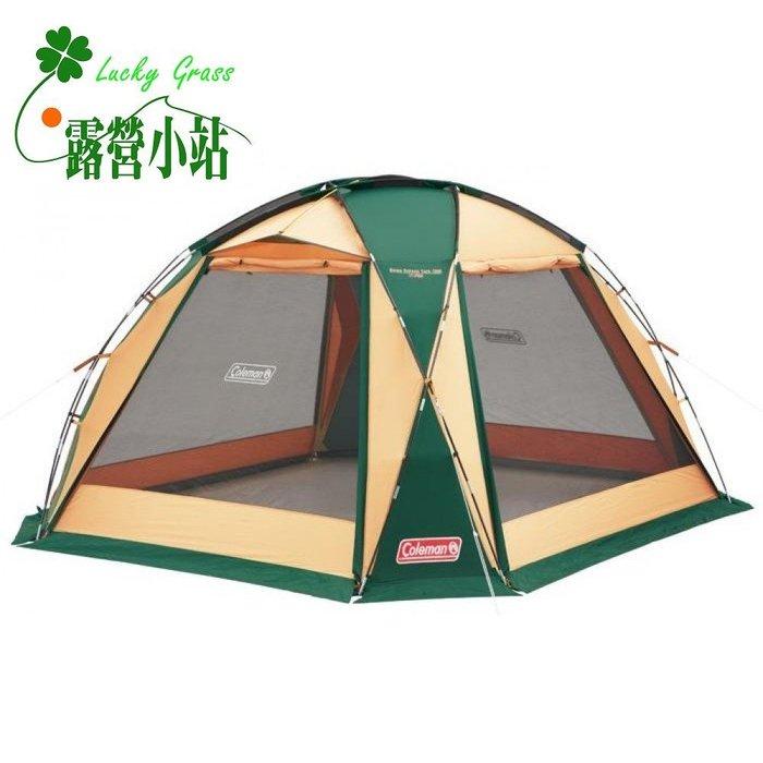 露營小站~65折出清【CM-27290】日本 Coleman 圓頂網屋/380 綠