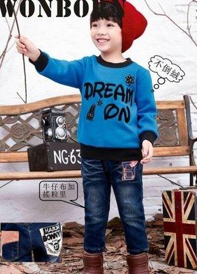~~庭瑜童鋪~~汪柏系列小童款DREAM內刷不倒絨棉T#5281