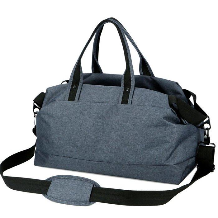 FK0608GY灰色 歐風運動側背包/健身包/旅行包(大號)