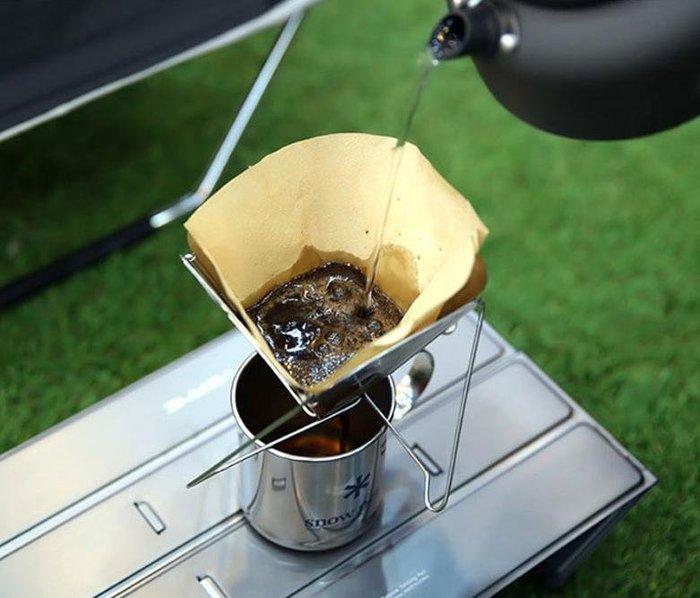 現貨~Louis生活館~ 戶外野營 方便攜帶 不銹鋼折疊漏斗 過濾咖啡器 咖啡渣過濾