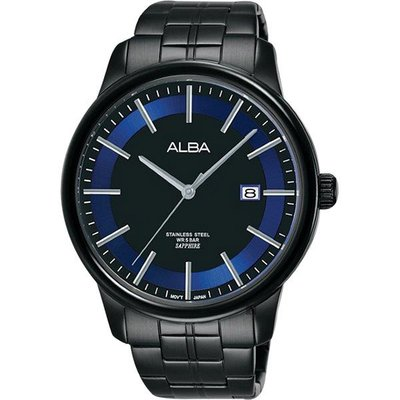 ALBA雅柏 日系時尚手錶(AS9D87X1)-鍍黑/42mm VJ42-X226B