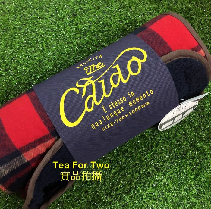 日本正品(現貨) polka polka 三用防靜電蓋膝毯/長毯/毛毯-格紋x紅色