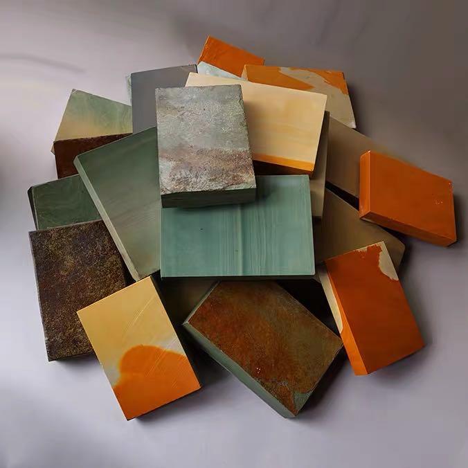 #通化正宗松花石砚台原石材料, #需要自己动手打磨雕刻 #部分规格大约15*10*2厘米左右