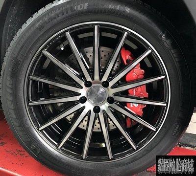 全新鋁圈 正品 VOSSEN VFS2 20吋 5孔114.3 9J 亮黑底+染透黑車面 lexus rx350 實裝圖