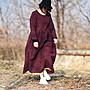 (老銀屋)春裝亞麻簡約大器寬鬆連衣裙...