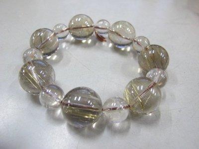 二手舖 NO.4018 天然白水晶 水晶手鍊 手珠 串珠 首飾飾品