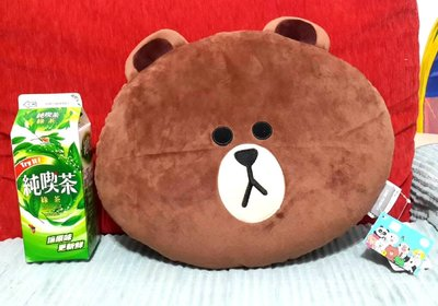 LINE FRIENDS Brown Plush Toy Soft Doll Stuffed Toys Pillow