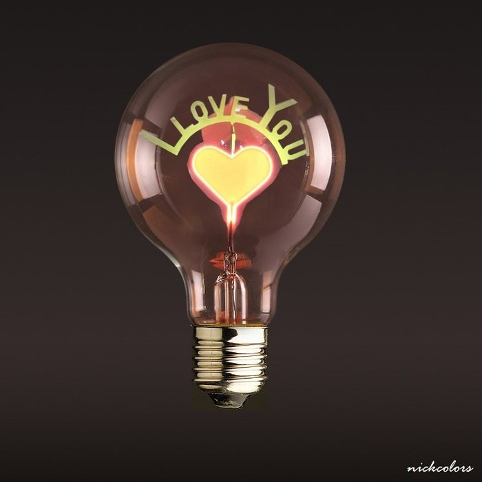 尼克卡樂斯 ~ 造型燈泡【I LOVE YOU款】工業風燈泡 鎢絲燈泡