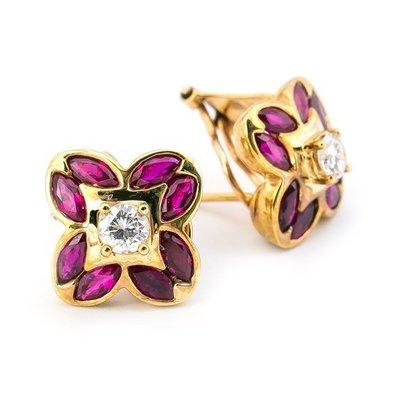 【JHT 金宏總珠寶/GIA鑽石專賣】2.36ct天然紅寶鑽石耳環/材質:18K(JB39-B13)