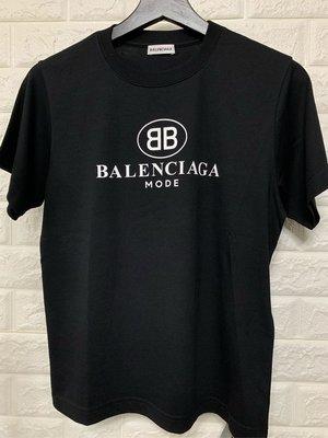 ZYForAll歐美精品《現貨》全新Balenciaga  巴黎世家 女款黑色BB 短袖 合身版型 短版 現貨L