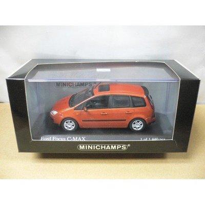 MINICHAMPS 1/43 FORD FOCUS C-MAX 2003 ORANGE METALLIC (05238) (PIU150)
