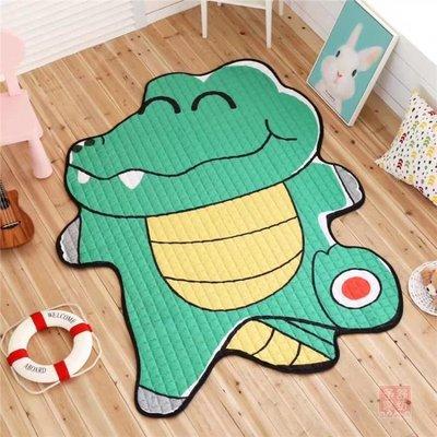 遊戲地墊 鱷魚企鵝老虎造型地墊裝飾地毯寶寶爬行墊游戲墊客廳臥室