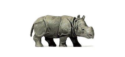 傑仲 (有發票) 博蘭 公司貨 Preiser 動物組 Young indian rhinoceros 29503 HO